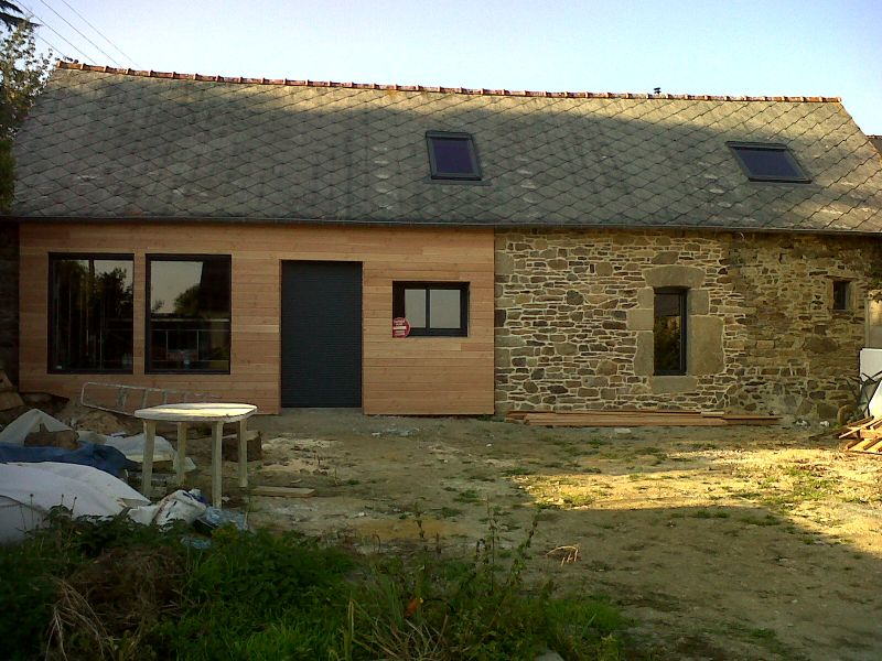 Renovation D Une Long Re En Bretagne Le Bardage Bois